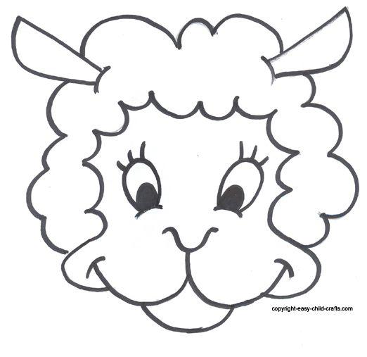 Pin by \'Alinda Miller on ABC crafts | Pinterest | Sheep mask, Mask ...