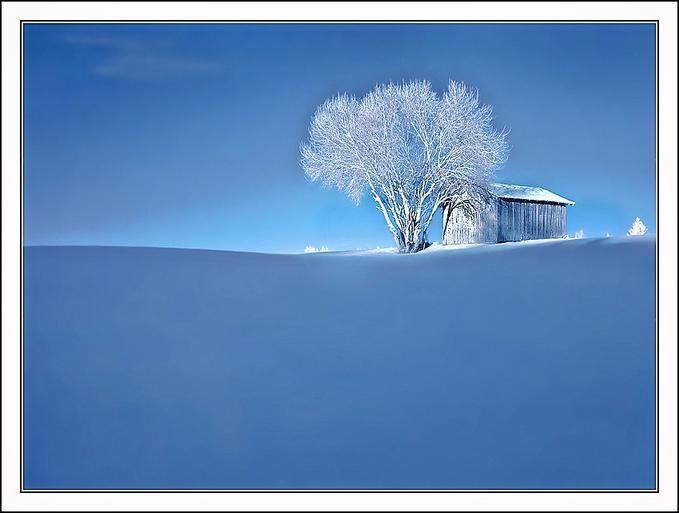 IR - Snow uphill: Photo by Photographer Roger Sandgren - photo.net Nort of Sweden