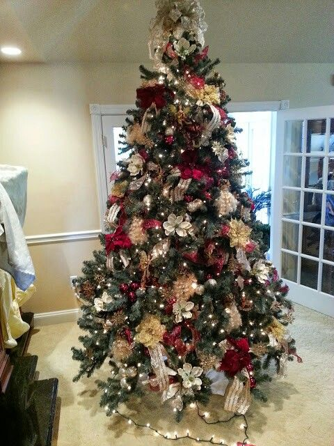 Orchid Christmas Tree.Custom Decorated Christmas Trees By Blue Orchid In Dover De