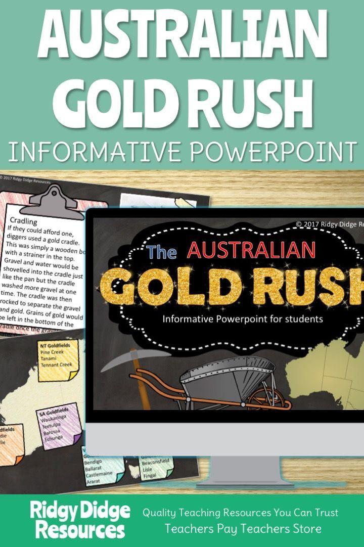 The Great Australian Gold Rush Informative Powerpoint