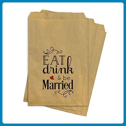 Wedding Favor Bags - Printed Kraft Bags - St of 25 - Wedding favors (*Amazon Partner-Link)