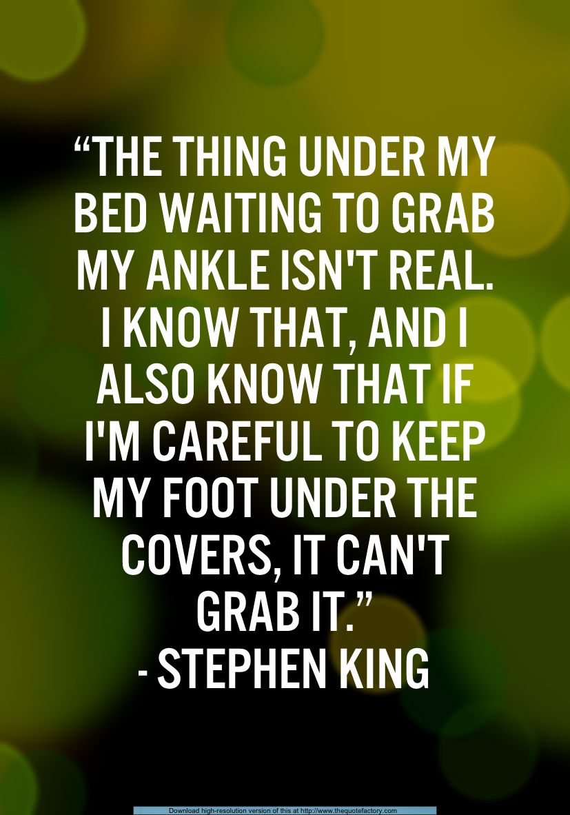 My King Quotes So True Darn My Overactive Imagination  Stephen King Quotes