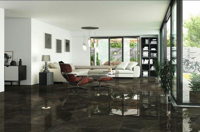 Porcelánico Esmaltado Ascot Black Salas De Estar De Tv Ideas De Diseño De Interiores Decoraciones De Casa