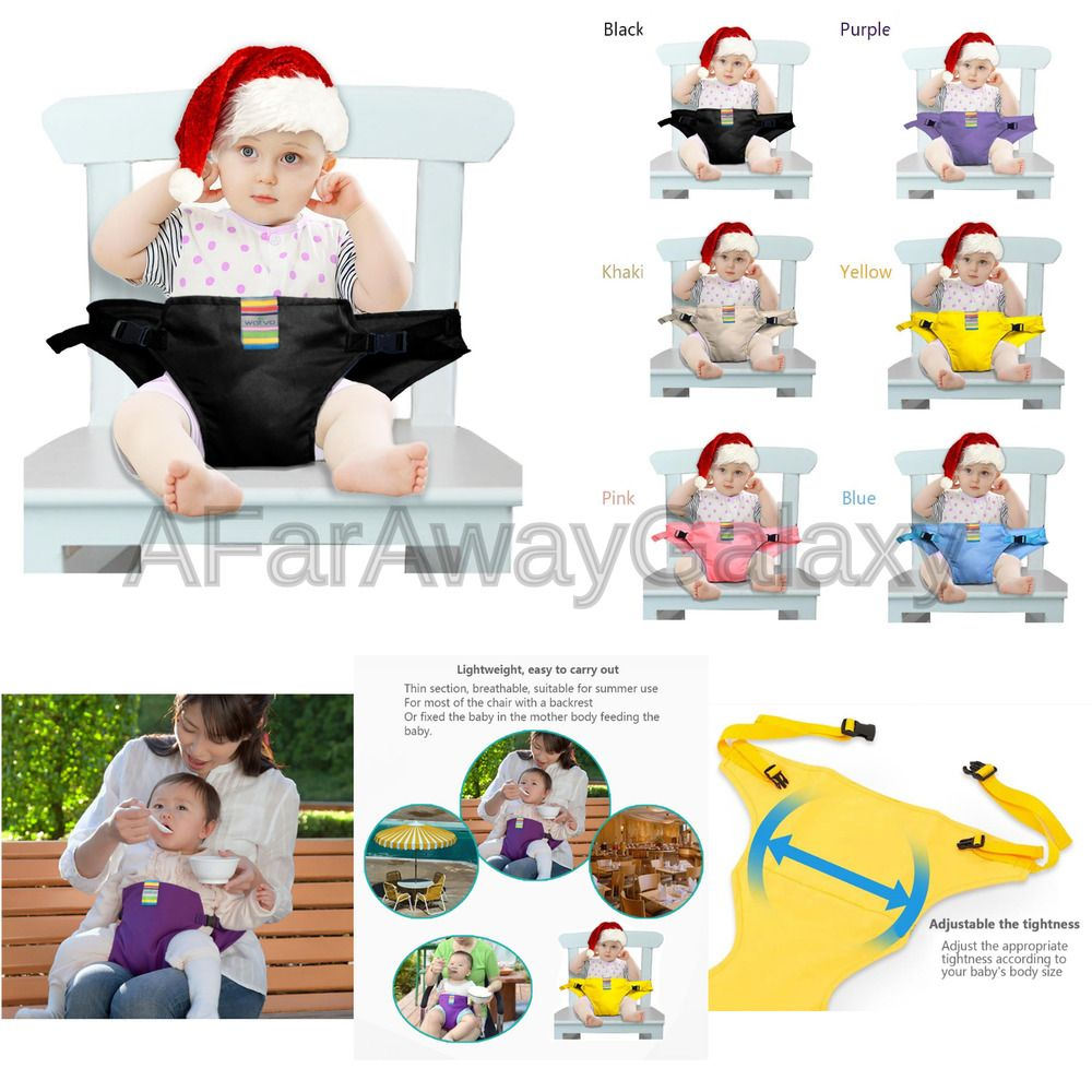 68e2c3007920 The Washable Portable Travel High Chair Booster Baby Seat with ...