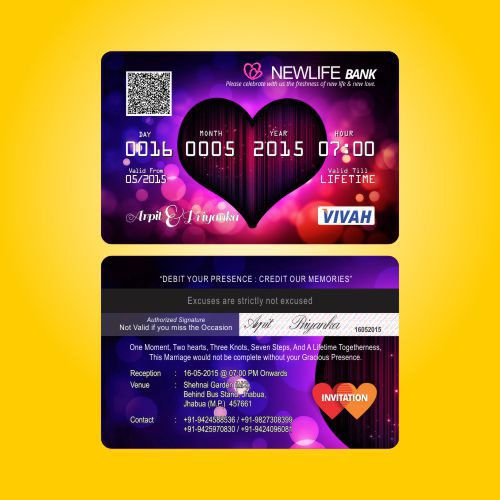 Atm wedding invitation because it is just not about withdrawing atmstyleweedingcards wedding invitations pinterest atm card style wedding invitation stopboris Image collections