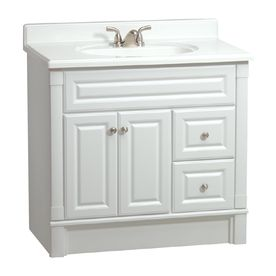 Estate By Rsi Southport White 36 In Casual Bathroom Vanity V33137
