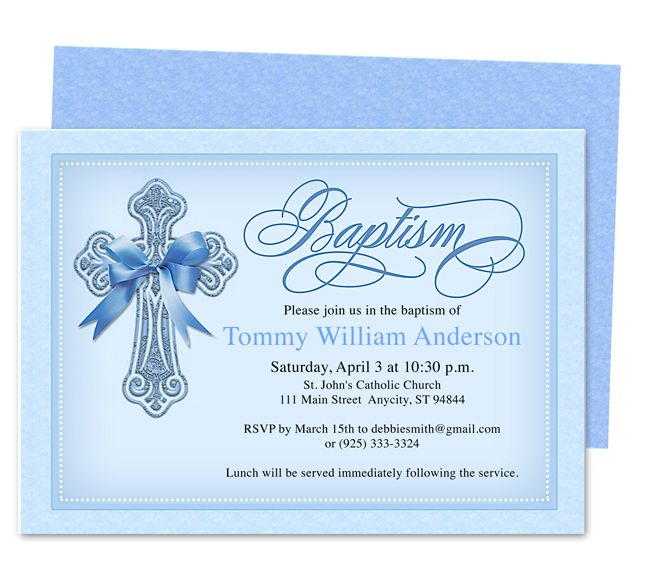 Printable DIY Baby BaptismChristening Invitation Templates