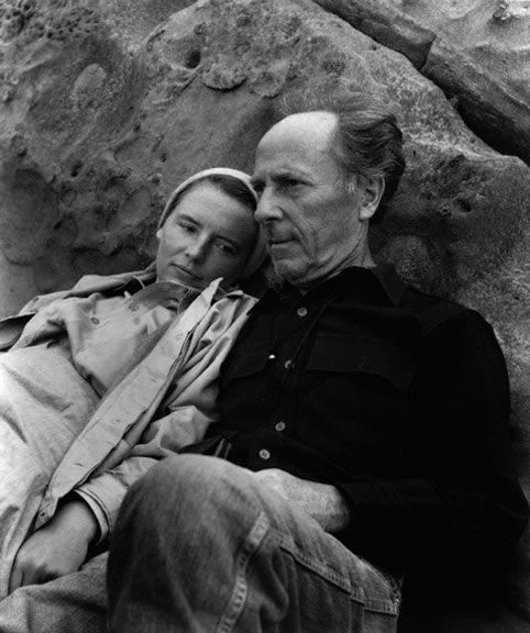 Edward Weston and Charis Wilson Weston at Point Lobos by Imogen Cunningham, 1945.