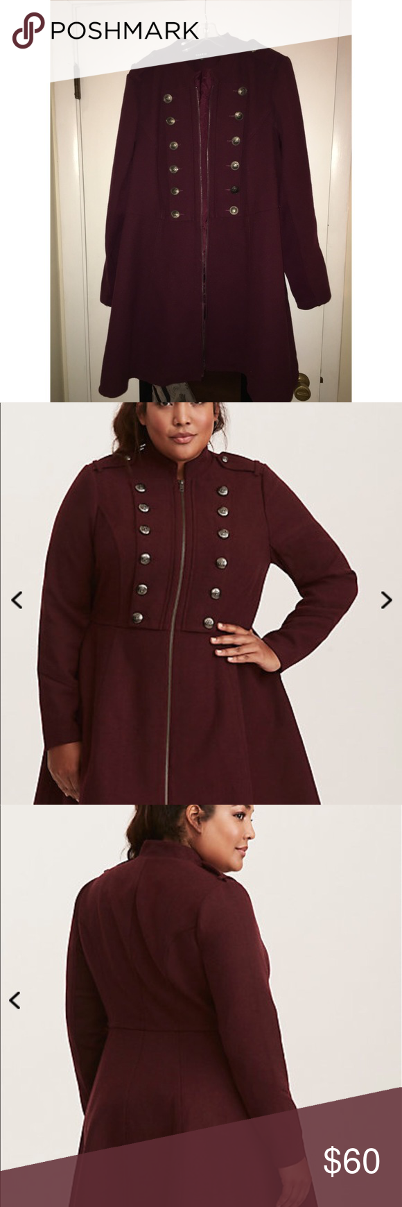 Torrid flannel dress  Long Maroon Peacoat  My Posh Picks  Pinterest  Torrid and Clothes