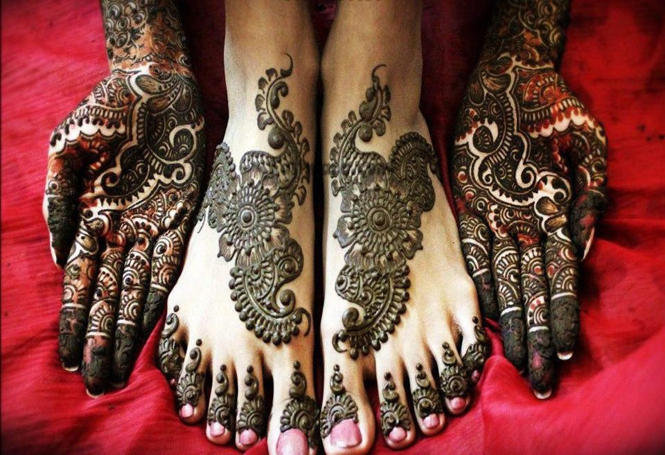 Mehndi Patterns For Legs : Beautiful arabic mehndi design for legs mehendi feet