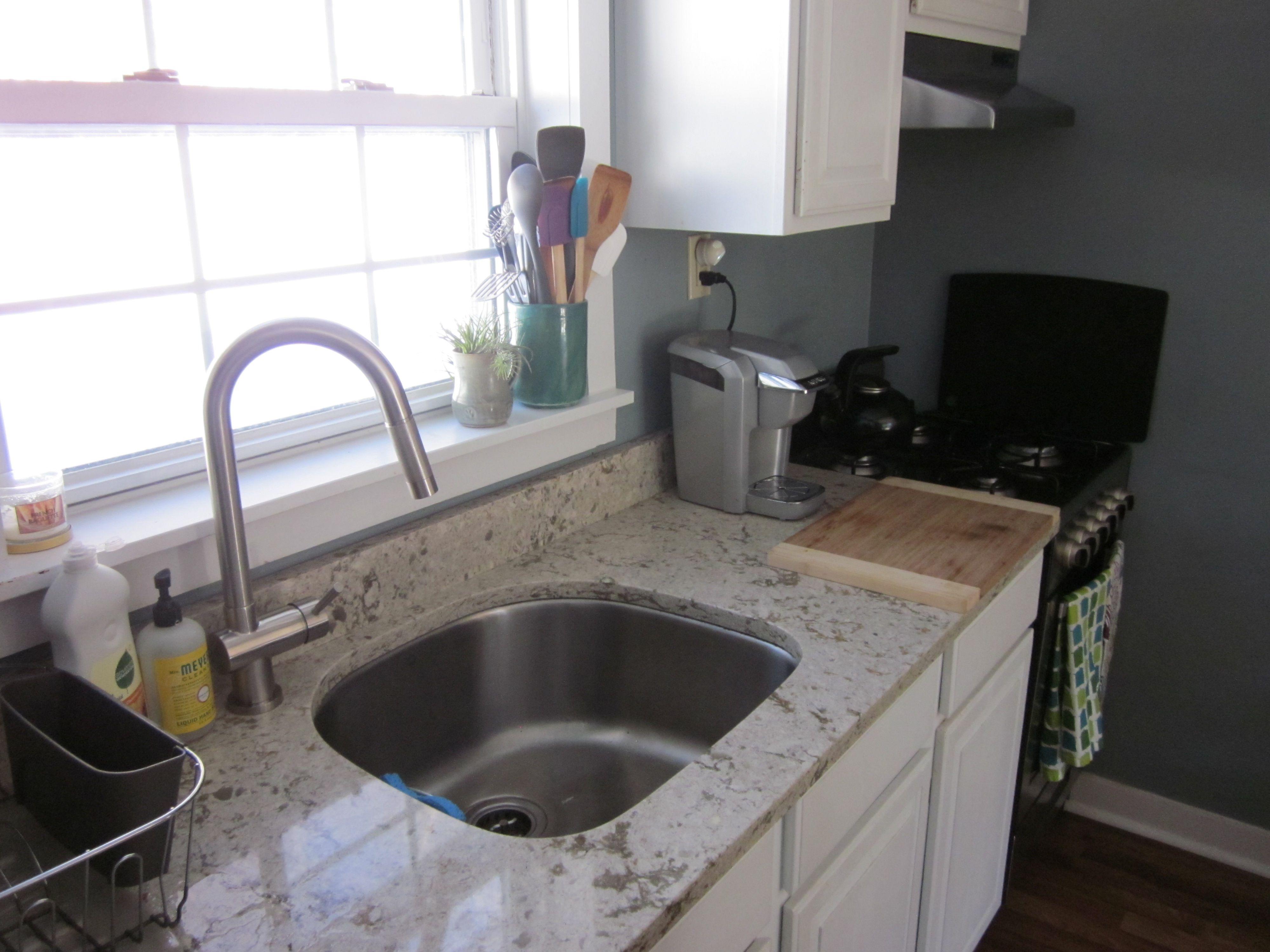 Bathroom Undermount Sink And Faucet cambria quartz countertop in windermere, vigo faucet and