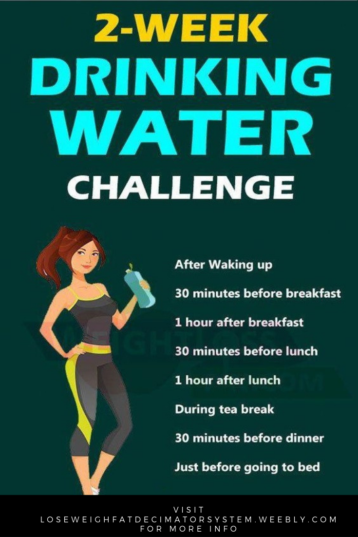 First, the most important way to succeed with the 30 day water challenge for weight loss is to make...