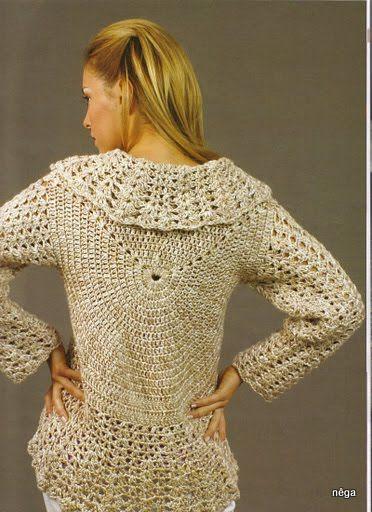 Casaco circular em crochê. | Crochê Vestidos | Pinterest