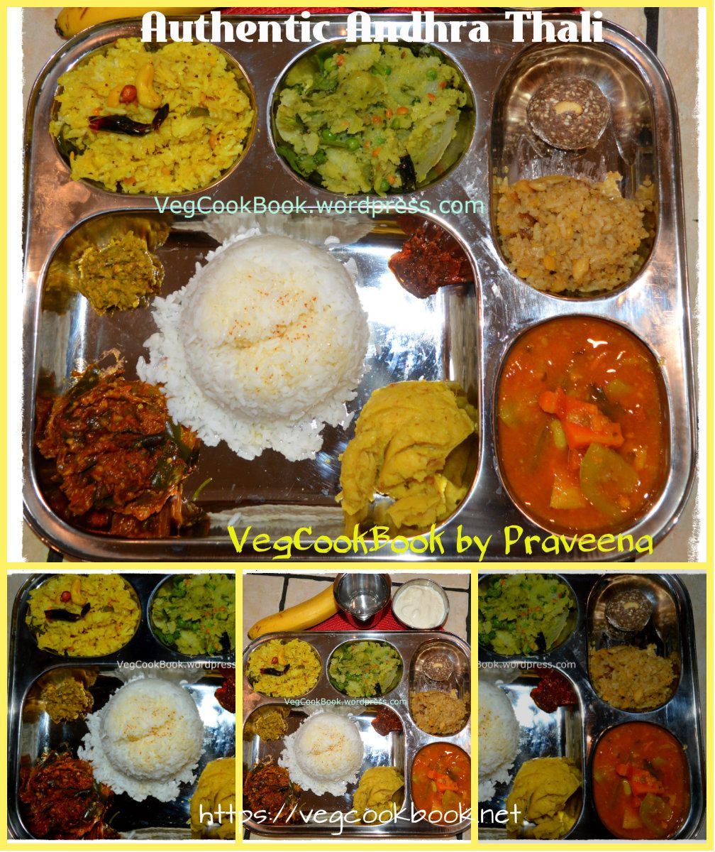 Authentic South Indian Andhra Style Veg Thali Lunch Platter
