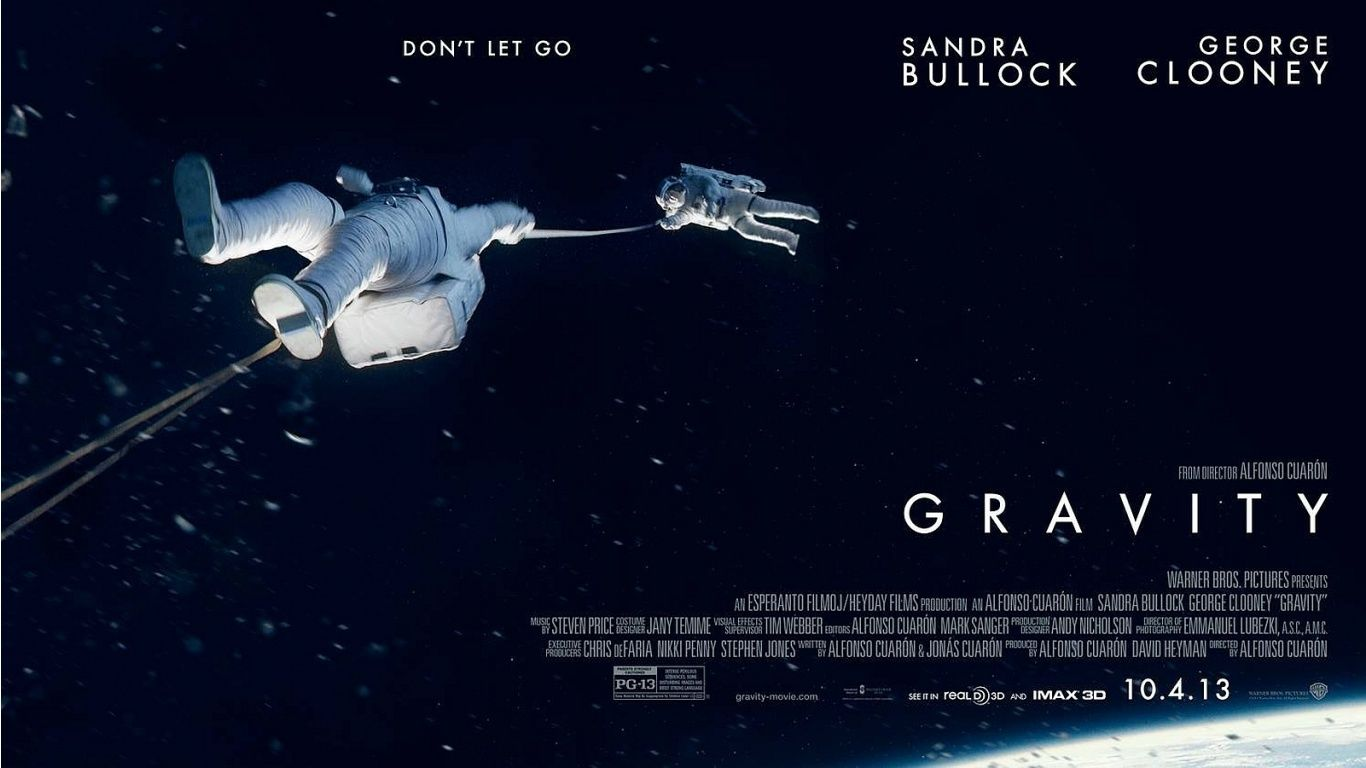 Gravity, 2013 | Gravity movie, Comic con, George clooney