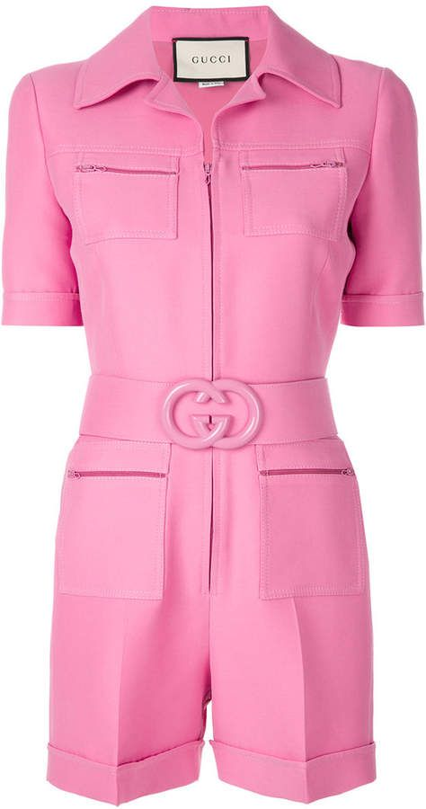 92b49abc1 Gucci Short belted playsuit | Fall 2018 LookBook in 2019 | Playsuit ...