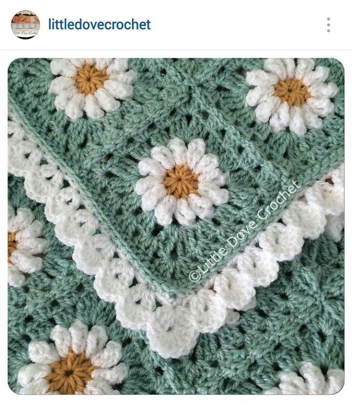 Instagram @littledovecrochet - crochet blanket | Crochet motifs #1 ...