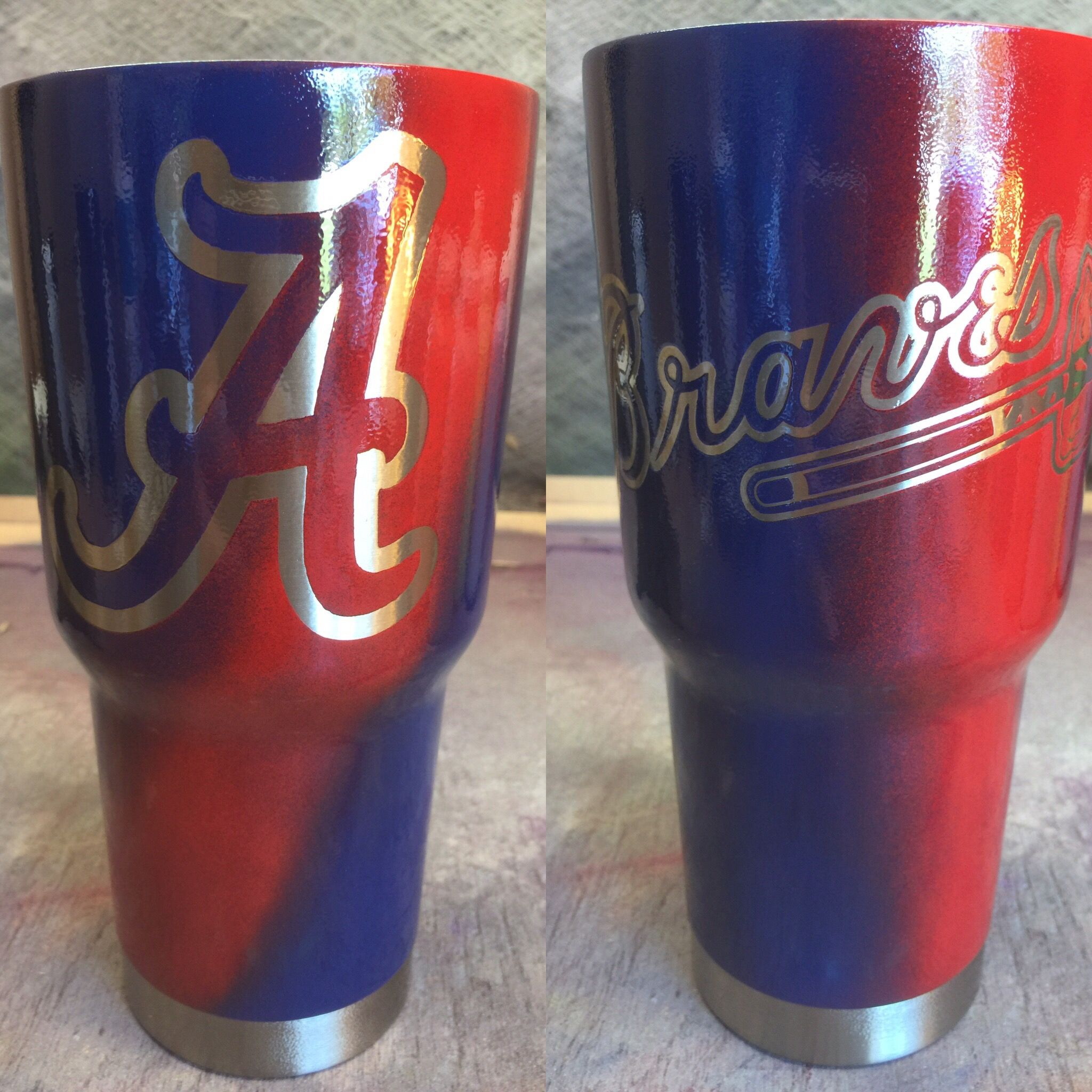 custom cups custom powder coated cups no stickers no vinyl 100
