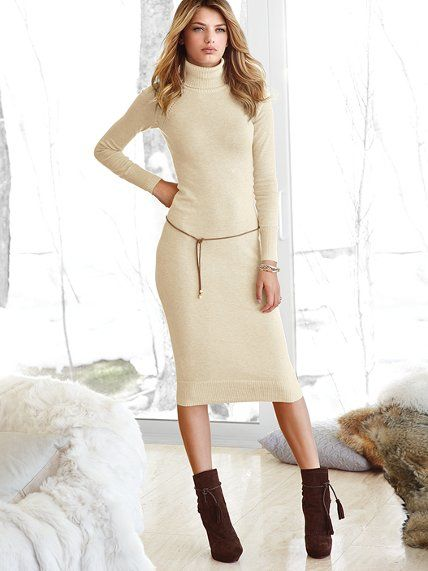 Victoria's Secret Turtleneck Sweater Dress – fashion dresses