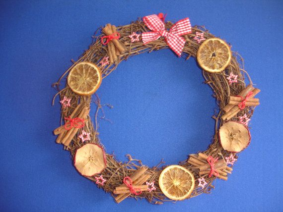 Christmas Wreath Decorated With Dried
