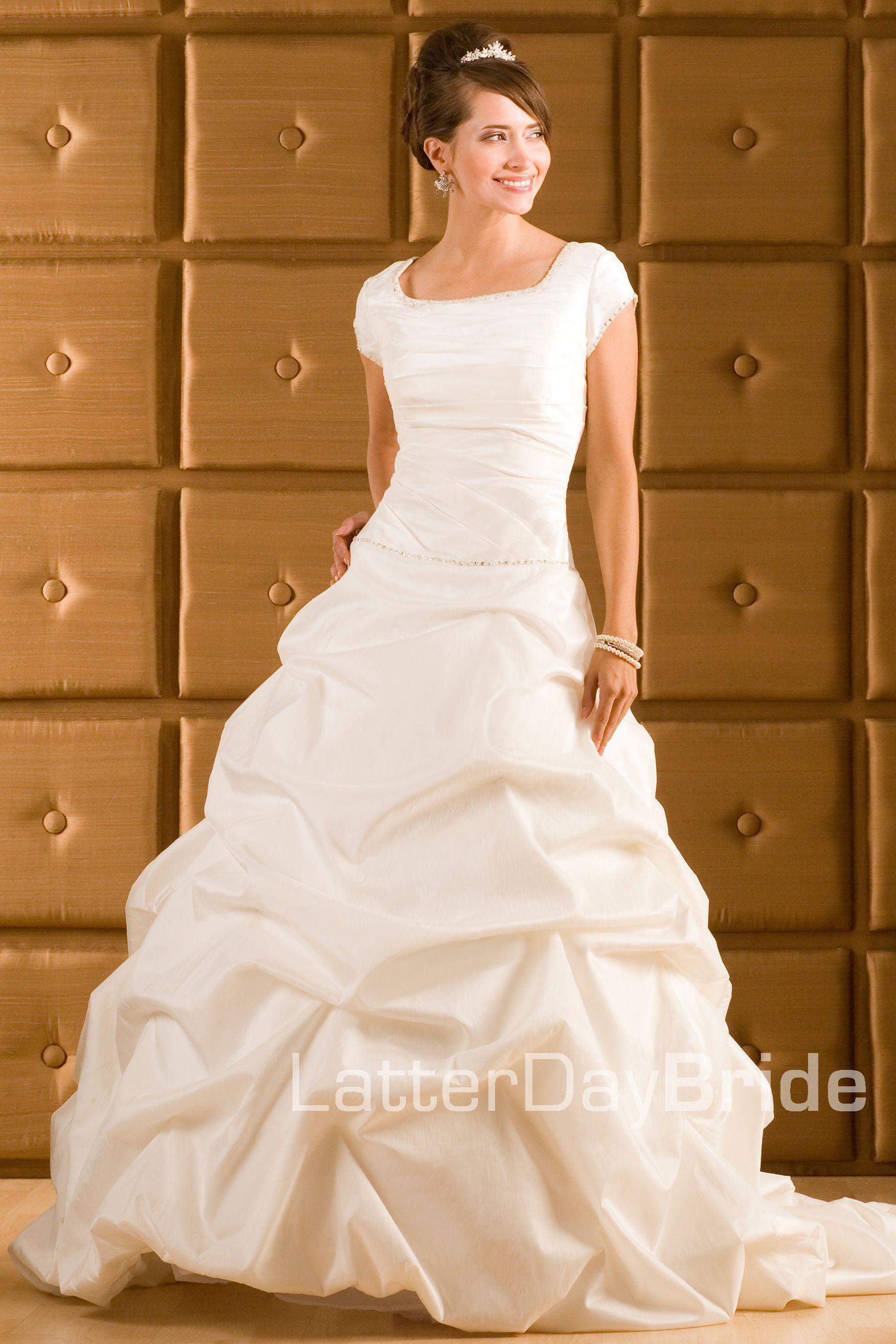 Modest Wedding Dress, Celine, LatterDayBride. All time favorite ...