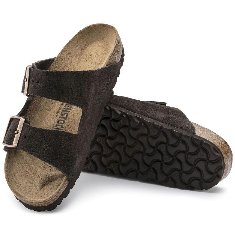 b6eba103d Arizona Suede Leather Mocha Birkenstock