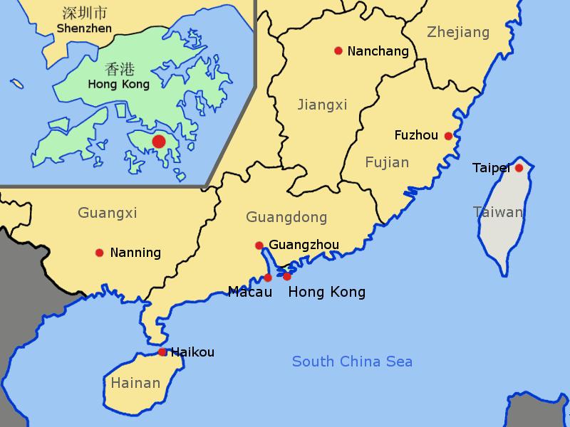Karte China Hong Kong.Cool Hong Kong China Map Holidaymapq China Map Hong Kong China