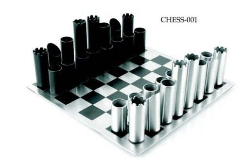 Stainless Steel Chess Set philippi Flip Design Gears To Buy