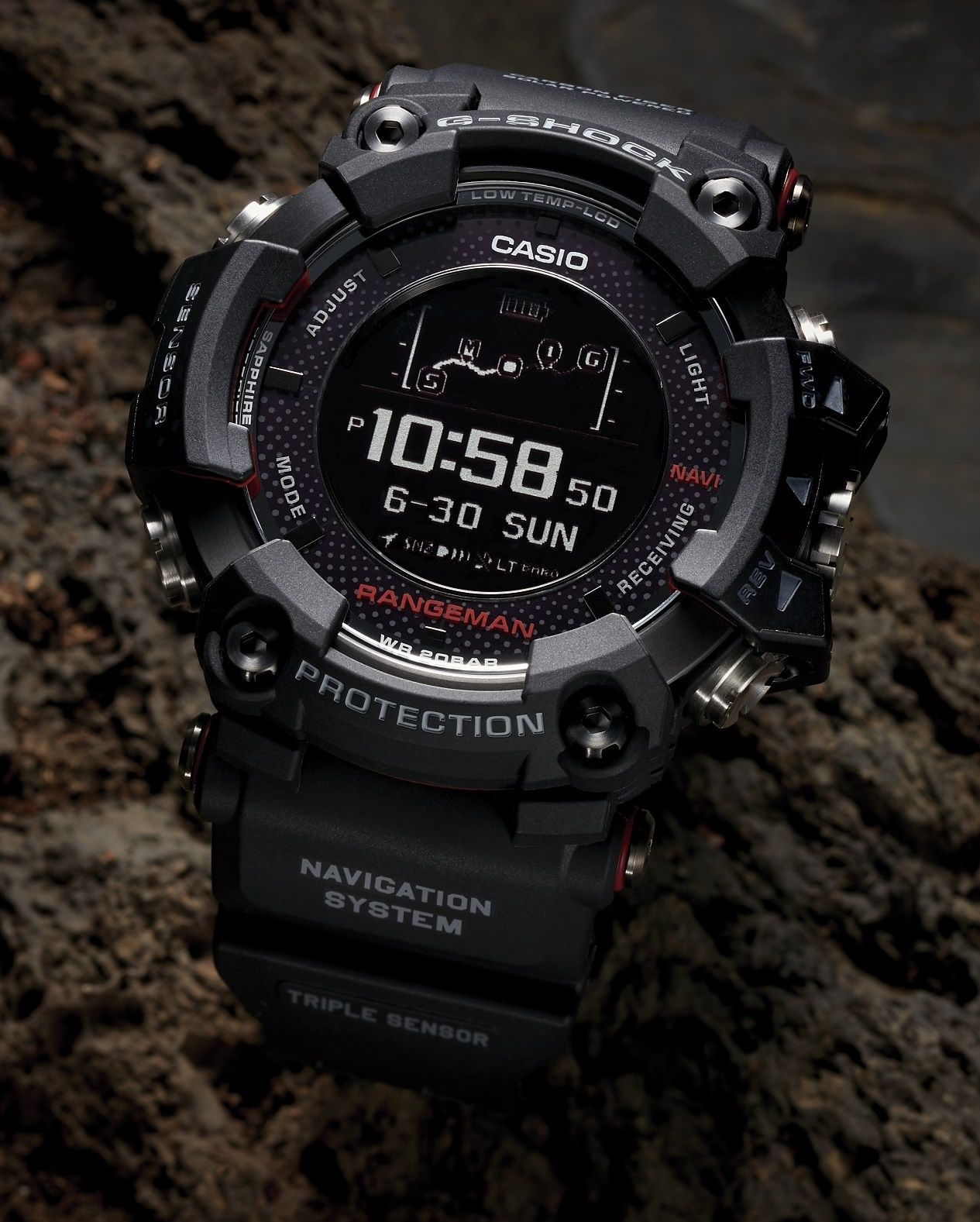58a3e00da52 New Upgraded   Refined Casio G-Shock Rangeman GPR-B1000 Watch Watch Releases