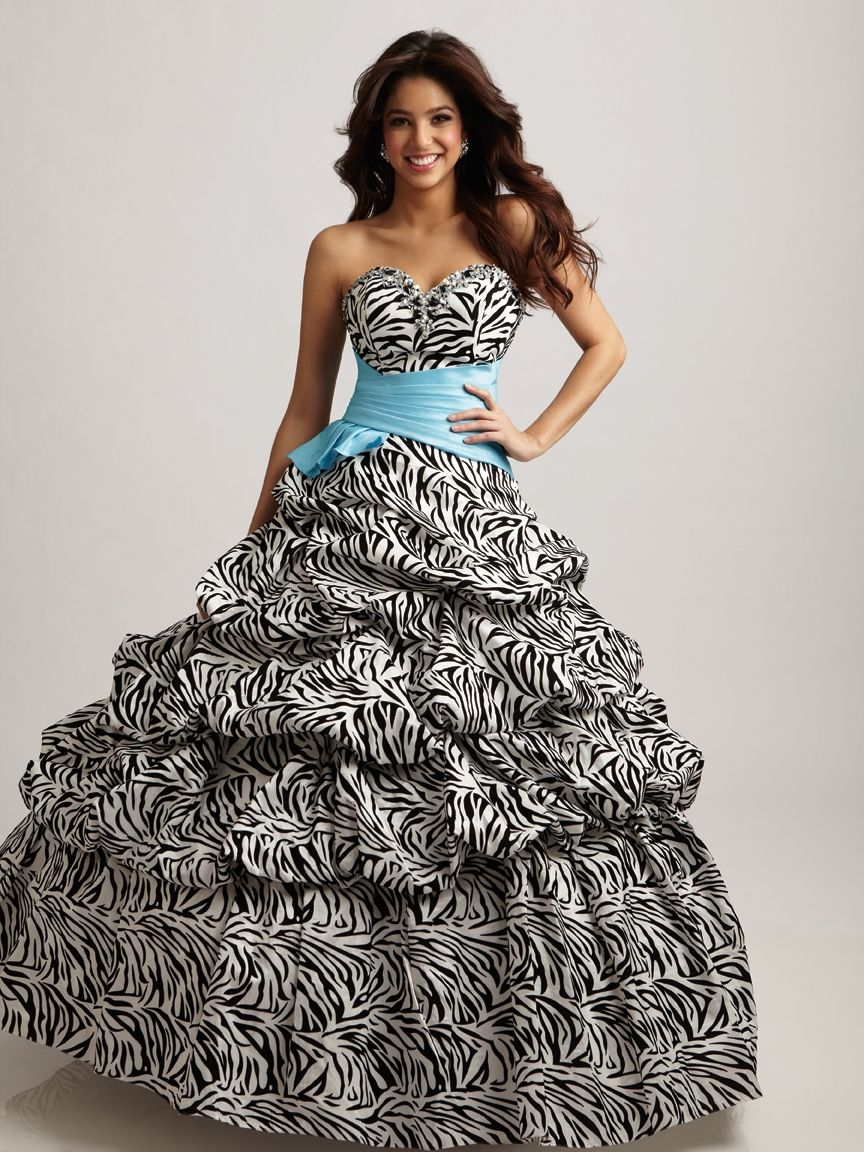 10  images about Dresses-Zebra on Pinterest - Prom dresses with ...