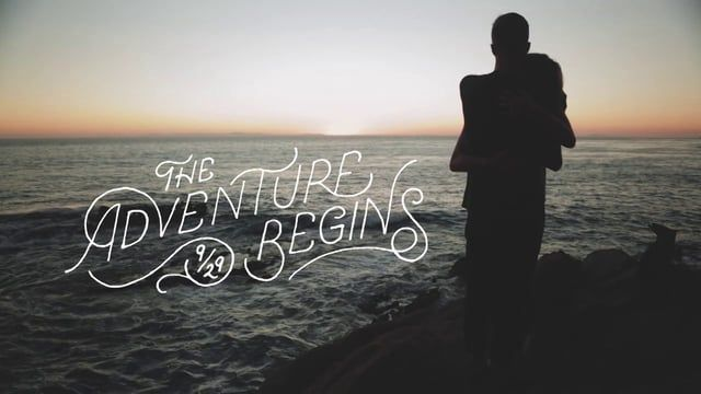 A short film about love.   Whitney had just traveled from Michigan to California, so Sean planned a day of exploring the west coast. I came along to make this video with a fun surprise ending.  ---  Film/Animation: Brandon Wall Lettering: Sean Tulgetske