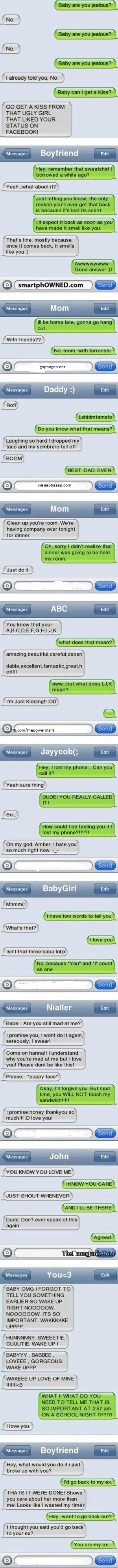 Funny Texts From Jealous Ex Boyfriend | The Ex | Funny ...