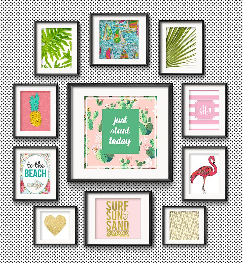 Frame Game: Beachy Keen Gallery Wall for a Preppy Collegian | Office ...