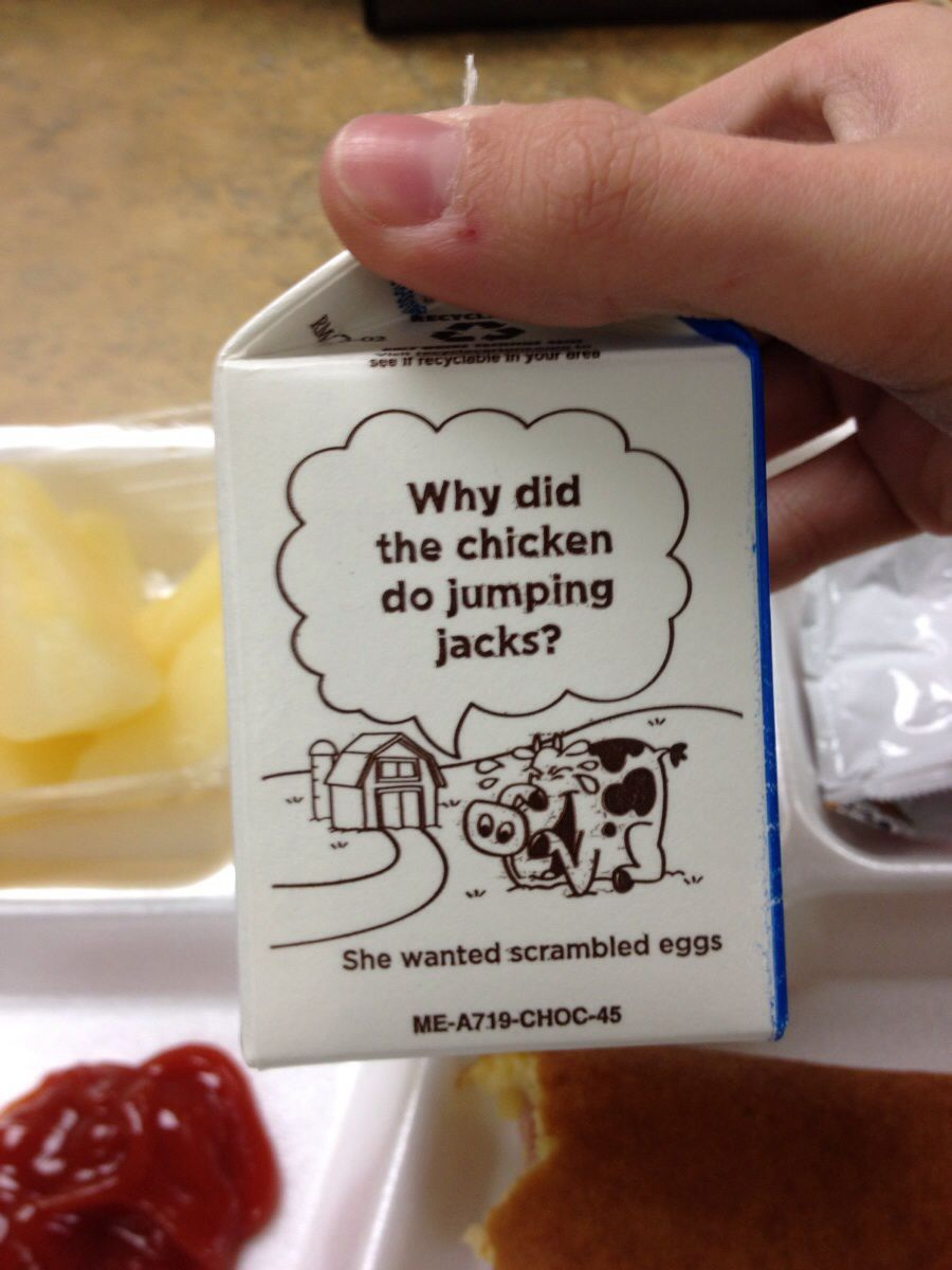 My lunch milk had a abortion joke on it.  // funny pictures - funny photos - funny images - funny pics - funny quotes - #lol #humor #funnypictures