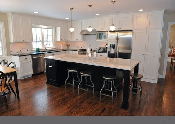 L Shaped Kitchen With Island Fringe And
