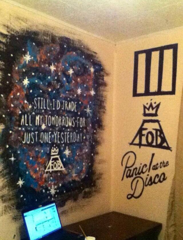 one day i shall make this a wall in my room my three favourite bands. Interior Design Ideas. Home Design Ideas