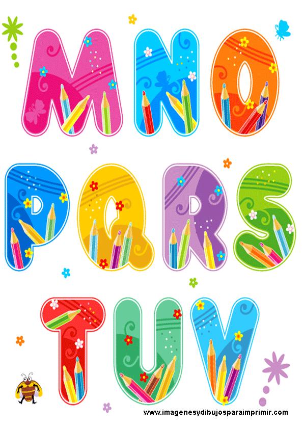 Abecedario escolar para imprimir imagenes y dibujos para - Literas divertidas para ninos ...