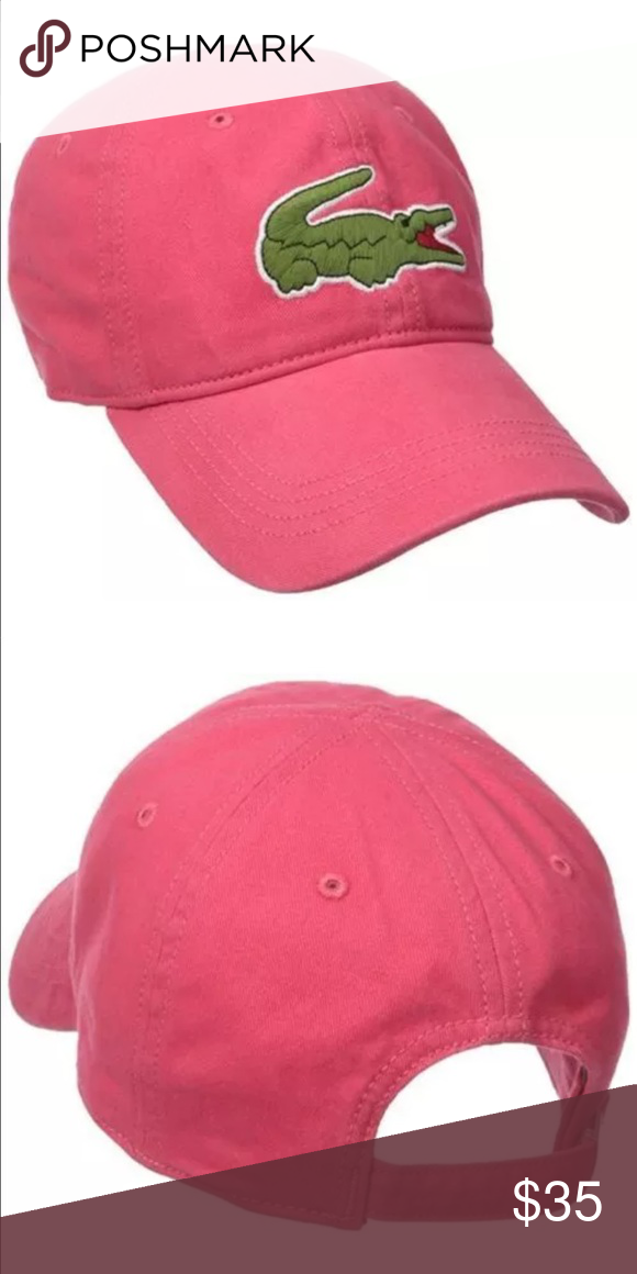 5807db9b6c1 New Lacoste Unisex Pink Hat Cap New Lacoste Unisex Hat Color  Pink Size   Adjustable Lacoste Accessories Hats