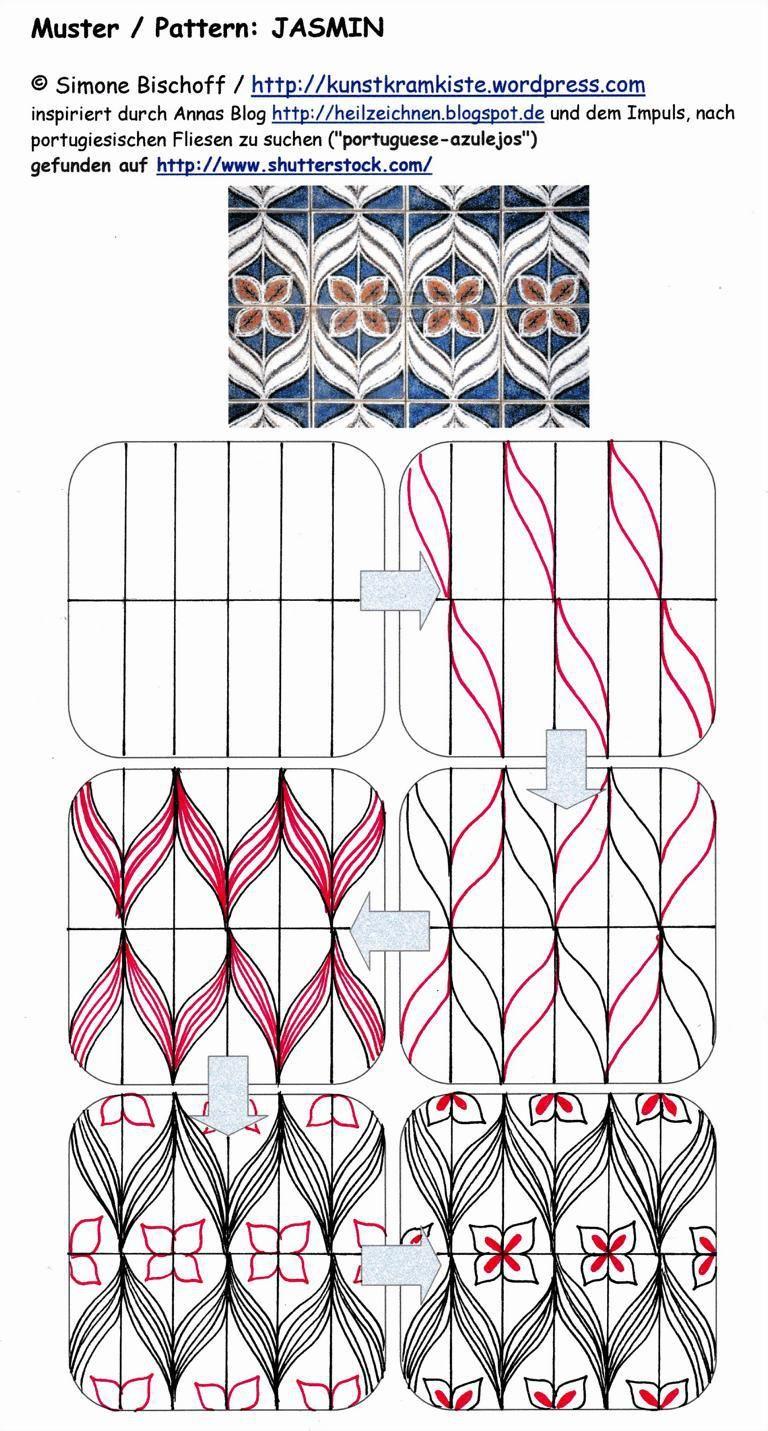Neues Muster Jasmin Zentangle Patterns Pinterest Muster