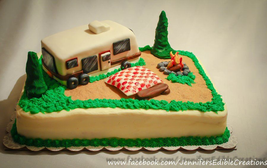 Camper Retirement Cake By Jennifer S Edible Creations