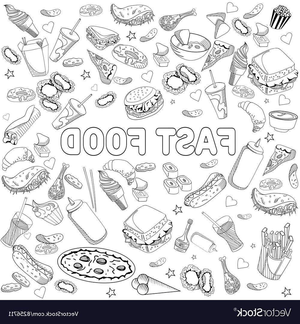 Food Coloring Book Coloring Page Coloring Books Coloring Pages