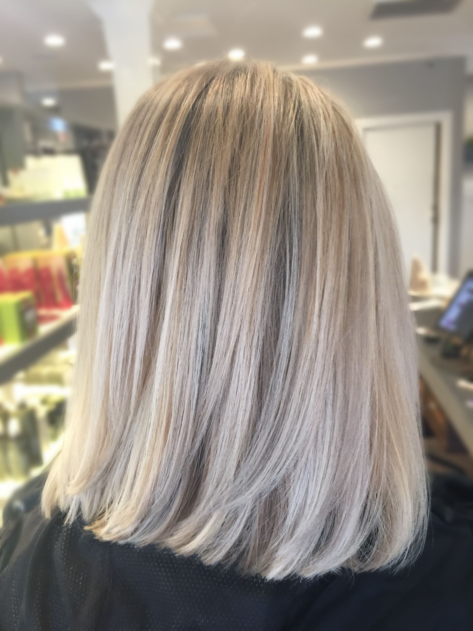 Beige Ash Blonde Balayage And Babylights Dyed Blonde