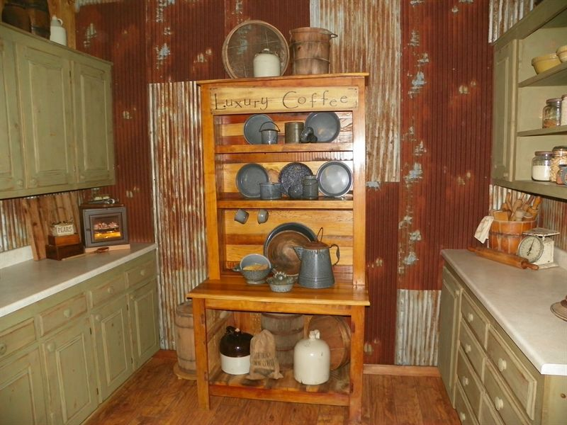 Rusty Tin Kitchen Wall House Interior Home Decor Cabin Chic