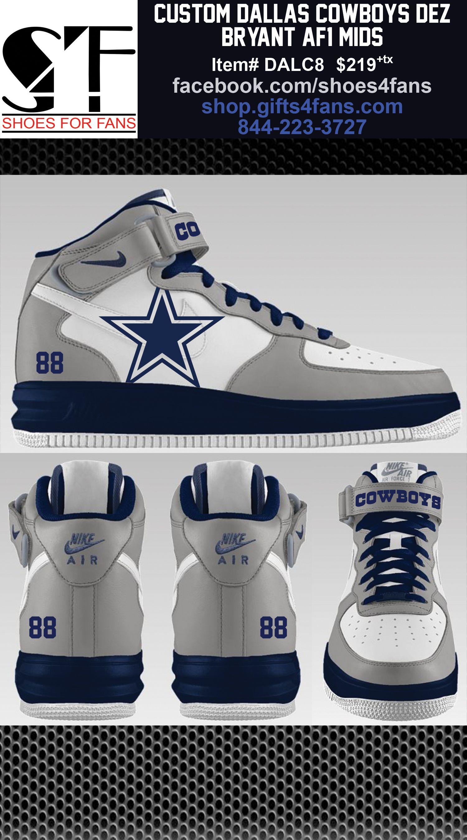 09d1ab358 Dallas Cowboys Nike Air Force One Dez Bryant Edition. order at  shop.gifts4fans.com