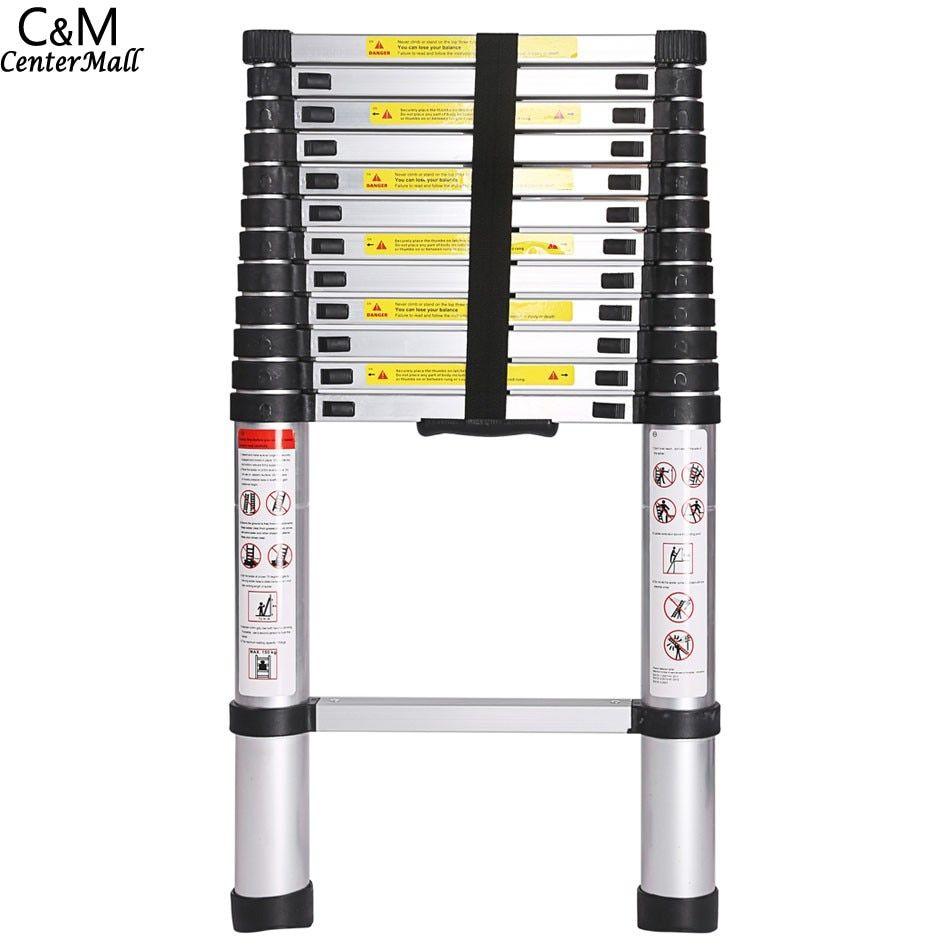 3.8M Multi-Purpose Aluminium Telescopic Ladder Extension Extendable Steps