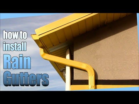 How To Install Rain Gutters Diy Youtube Diy Gutters