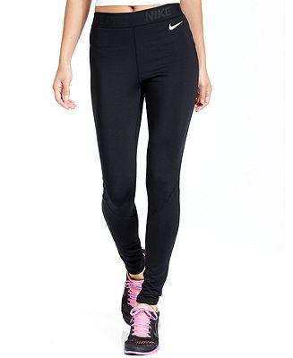 57ede6195b7b Nike Pants, Pro-Hyperwarm Dri-FIT Running Leggings - Shop All Activewear -  Women - Macy's
