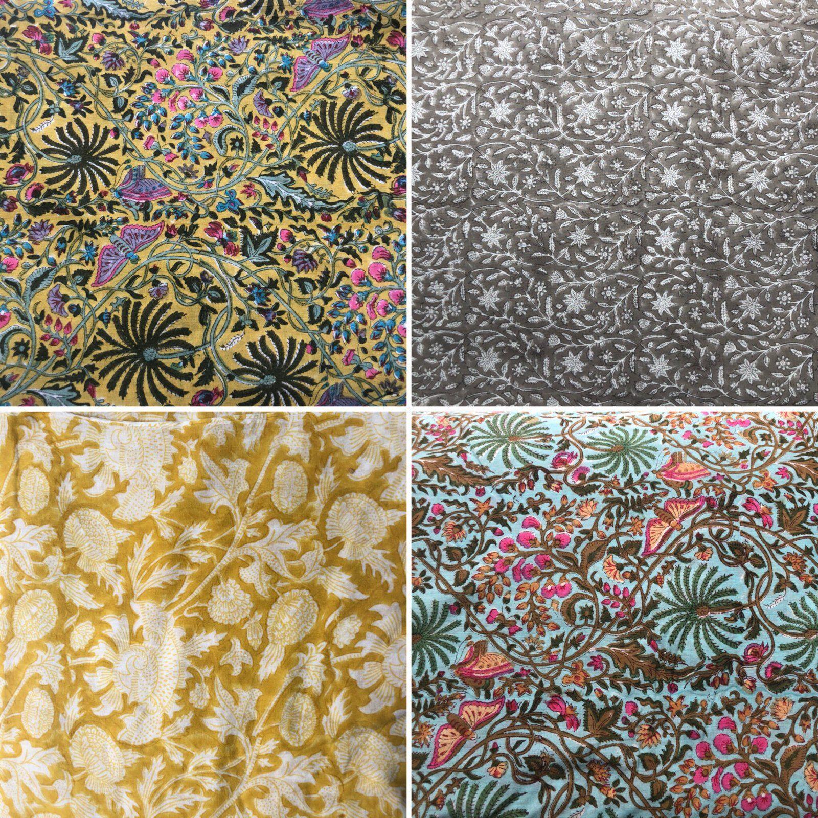 Comment Nettoyer Des Coussins De Caravane tissu imprimé aux tampons en inde fleuris | imprimer sur