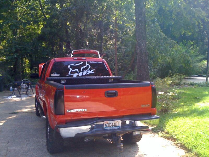 Lifted Gmc Truck With Fox Sticker Trucks Pinterest GMC - Chevy truck stickers for back window