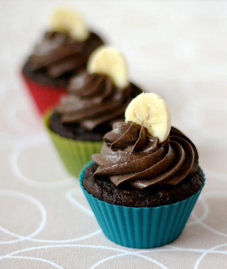 초콜릿 바나나 컵케익